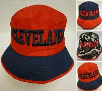 Bucket Hat [CLEVELAND C] Navy/Red